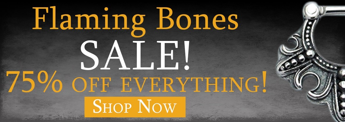 Flaming Bones Body Jewelry Sale