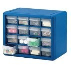 16 Drawer Plastic Storage Cabinet