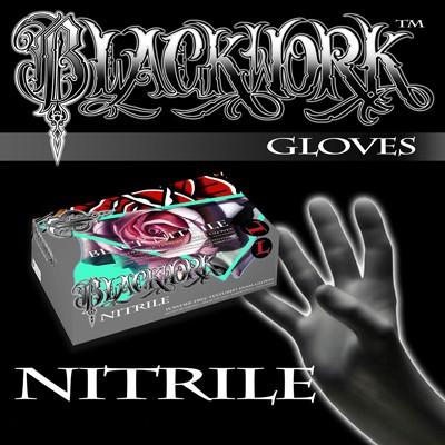 Black Nitrile Medical Grade Gloves by Blackwork Supply