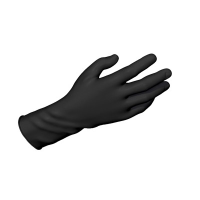 Dynarex Safe-Touch® Black Nitrile Exam Gloves, Powder-Free