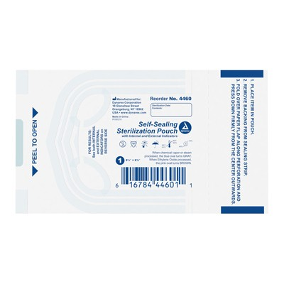 "Dynarex Sterile Pouches - 2.25"" x 2.75"" - Box of 200"