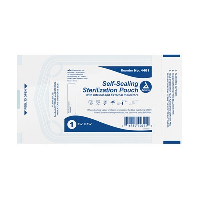 "Dynarex Sterile Pouches - 3.5"" x 5.25"" - Box of 200"