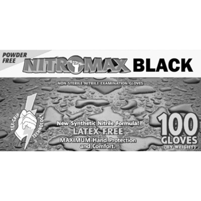 Emerald NitroMax Black Nitrile Gloves