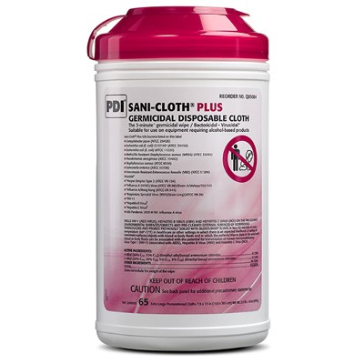 PDI Sani-Cloth Plus - Red Top - Low Alcohol Content - XL Canister