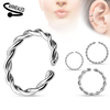14g Braided Surgical Steel Annealed and Rounded End Cut Rings