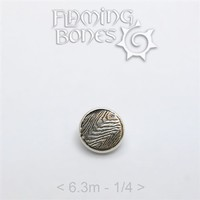 006 6.3mm Mokume-Gane Wood Grained Metal - Flat Threaded End in Sterling Silver