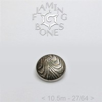 024 10.5mm Mokume-Gane Wood Grained Metal - Flat Threaded End in Sterling Silver