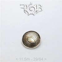028 11.5mm Mokume-Gane Wood Grained Metal - Flat Threaded End in Sterling Silver