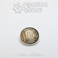 035 10mm Mokume-Gane Wood Grained Metal - Flat Threaded End in Sterling Silver