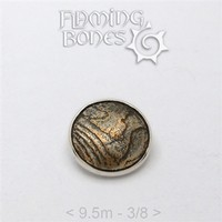 047 9.5mm Mokume-Gane Wood Grained Metal - Flat Threaded End in Sterling Silver