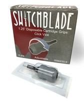 "1-1/4"" Switchblade Disposable Cartridge Grips - Box of 15 - Click Vice Style"
