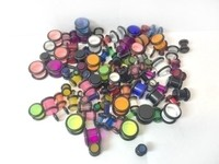 100 Assorted UV Plugs 10g to 00g