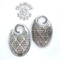 10g Silver Plated Fleur De Oval Plate Weight