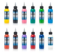 12 Color Sample Pack - Fusion Tattoo Ink