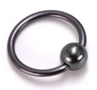 18g BlackArt Titanium Captive Bead Rings