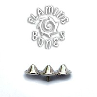 14g Champion Cluster Threaded Ends in Sterling Silver