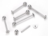 14g Internally Threaded Titanium Labret for Dimple Piercings