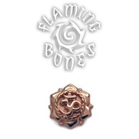 14g Lotus Om Threaded Ends in Gold Plated Sterling Silver