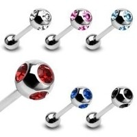 14g Multi-Jeweled Steel Barbell