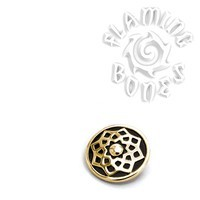 "14g ""Stellar"" Sacred Geometry Threaded Ends in Brass"