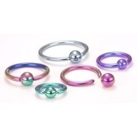 14g Titanium Captive Bead Ring