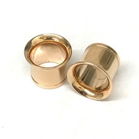 14k Rose Gold Single Flare Tunnel / Eyelet