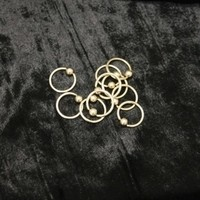 16g Pyrite Gold Titanium Captive Bead Rings