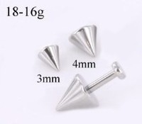18g - 16g Steel Cone for Externally Threaded Body Jewelry