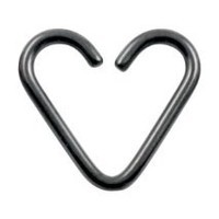 18g BlackArt Niobium Heart Shaped Rings