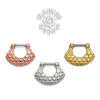 18k Gold Plated Septum Klikr with Surgical Steel Post - Vertex