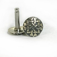 316LVM Steel Plug with Sterling Silver Stud - Celtic 2
