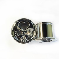 316LVM Steel Skull and Heart Eyelets