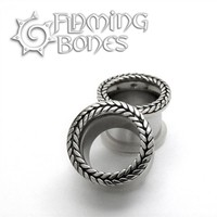 316LVM Steel with Silver Classic Braided Accent Eyelets