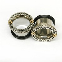 316LVM Steel with Silver and Brass Classic Accent Eyelets