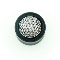 "5/8"" Woven Silver Subang Long Tapered Plugs"