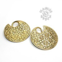 8g Brass Medieval Gilt Plate Weight without Patina