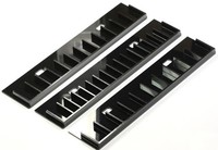 "Black Acrylic Plug Display Rack for 18"" Double Sided Body Jewelry Display"