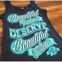 Beautiful Women Tank by Sharkface Apparel