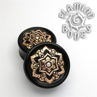 Black Dog Wood Chandi Mandala In Bronze with Sterling Silver Accent
