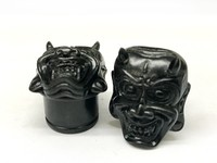Black Dogwood Oni Mask Plugs