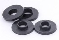 Black Nylon Shoulder Washers - Bag of 10