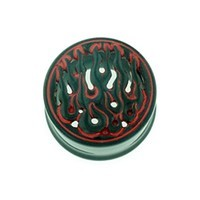 Black Water Buffalo Horn with Red Lacquer Inlay Lattice Eyelets - Style EHL11
