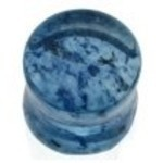 Blue Capri Murano Glass Saddle Flared Plug