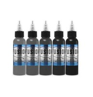 Bolo Smooth Gray 5-Color Palette Signature Set - Fusion Tattoo Ink