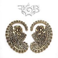 8g Brass Paisley Ear Weights