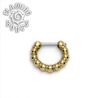 Brass Septum Klikr with Surgical Steel Post - Bollen
