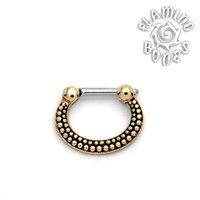 Brass Septum Klikr with Surgical Steel Post - De Luz