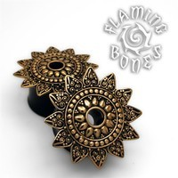 Bronze Lotus Sun Eyelet on Wood or Horn