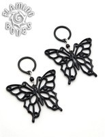 Butterfly Water Buffalo Horn Ear Dangles