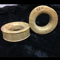 "Classic Eyelets in ""Smoke"" Javanese Fossilized Wood"